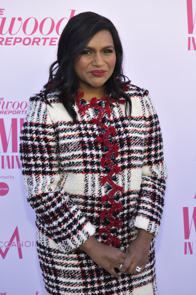 Mindy Kaling accessorized with a gorgeous diamond ring at the 2019 Hollywood Reporter's Women in Entertainment breakfast.