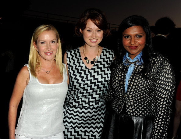 More Pics of Mindy Kaling Long Wavy Cut (4 of 26) - Mindy Kaling Lookbook - StyleBistro