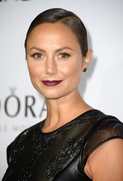Stacy Keibler went for classic elegance with a slicked-back braided side bun when she attended the Hollywood Reporter Emmy party.