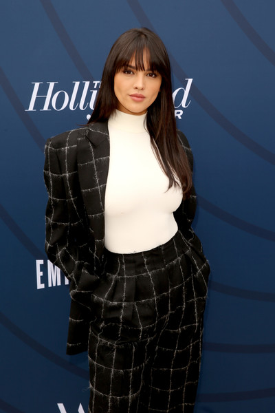 More Pics of Eiza González Long Straight Cut with Bangs (1 of 3) - Long Hairstyles Lookbook - StyleBistro [red carpet,the hollywood reporter,hair,clothing,hairstyle,beauty,fashion,lip,black hair,long hair,outerwear,premiere,eiza gonz\u00e3,lez,california,los angeles,hollywood reporter,milk studios,empowerment in entertainment event]