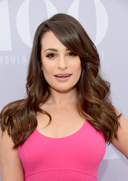 Lea Michele looked lovely with her flowing waves and side-swept bangs at the Women in Entertainment Breakfast.