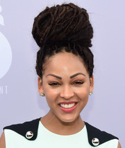 Meagan Good sported a massive dreadlock bun at the Women in Entertainment Breakfast.