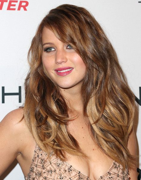 More Pics of Jennifer Lawrence Long Wavy Cut (8 of 15) - Long Wavy Cut Lookbook - StyleBistro