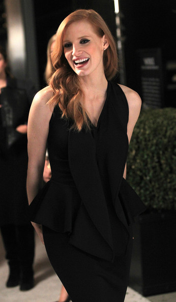 More Pics of Jessica Chastain Little Black Dress (1 of 26) - Jessica Chastain Lookbook - StyleBistro