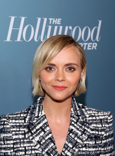 More Pics of Christina Ricci Pumps (1 of 4) - Christina Ricci Lookbook - StyleBistro [the hollywood reporter,hair,face,hairstyle,blond,eyebrow,chin,lip,layered hair,premiere,long hair,power 100 women in entertainment - red carpet,power 100 women in entertainment,christina ricci,california,los angeles,hollywood reporter,milk studios]