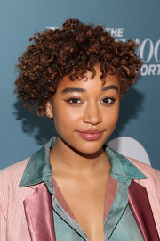Amandla Stenberg reminded us of little orphan Annie with her curly hairstyle at the Hollywood Reporter's Power 100 Women in Entertainment event.