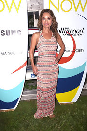 Giada sported a wave-print maxi dress while at the Cinema Society screening of 'The Spectacular Now.'