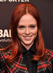 Coca Rocha debuted her fiery red locks with this sleek and simple straight 'do.