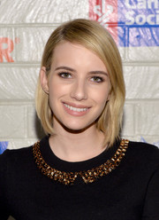 Emma Roberts went for no-frills styling with this simple bob when she attended the Hollywood Stands Up to Cancer event.