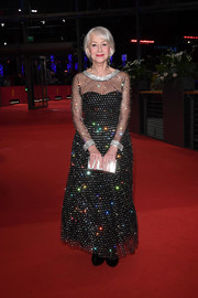 Helen Mirren sparkled on the red carpet in a beaded black gown by Dolce & Gabbana at the 2020 Berlinale International Film Festival.