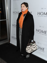 Isabella Rossellini chose a zebra-print bag as her statement piece during the premiere of 'Home.'