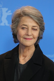 Charlotte Rampling wore her hair in a short side-parted style while attending a photocall during the 2019 Berlinale International Film Festival.