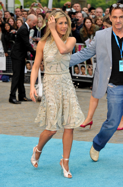More Pics of Jennifer Aniston Peep Toe Pumps (1 of 39) - Jennifer Aniston Lookbook - StyleBistro