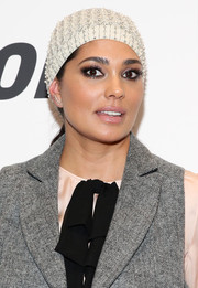 Rachel Roy attended the '#Horror' New York premiere rocking a beaded beanie.