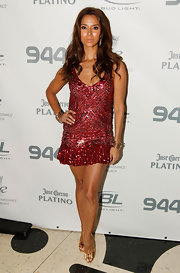 This sexy sequined mini dress had Roselyn Sanchez looking party-ready at an event in Miami.