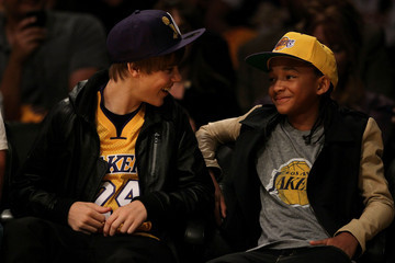 Jaden Smith Justin Bieber Houston Rockets v Los Angeles Lakers