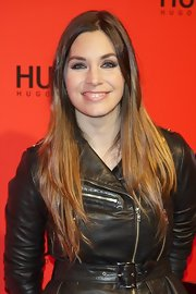 Leire Martinez had her ombre tresses sleek and straight for the Hugo Boss party.