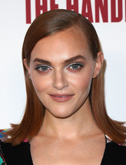Madeline Brewer swiped on some ice-blue eyeshadow for a striking beauty look.