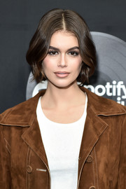 Kaia Gerber looked pretty with her center-parted bob at the New York premiere of 'High Fidelity.'