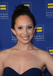 Cheryl Burke pulled her hair back into a loose bun for the Human Rights Campaign Los Angeles Gala.