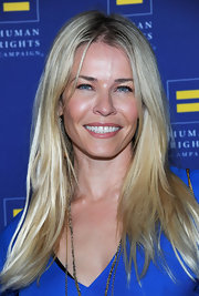 Chelsea Handler attended the Human Rights Campaign Gala in LA wearing her hair casually styled.