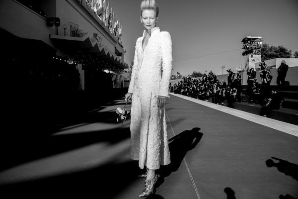 More Pics of Tilda Swinton Evening Pumps (3 of 69) - Tilda Swinton Lookbook - StyleBistro [the human voice,quo vadis,image,movie,white,black,black-and-white,fashion,monochrome,monochrome photography,standing,shadow,photography,dress,dress,aida,monochrome,red carpet,red carpet,77th venice film festival,black and white,noir,monochrome,haute couture,dress,clothing,human]