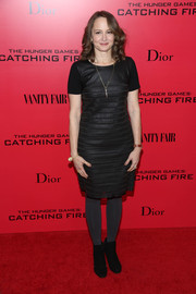 Nina Jacobson was classic with a bit of an edge in a textured LBD during the 'Catching Fire' NYC premiere.