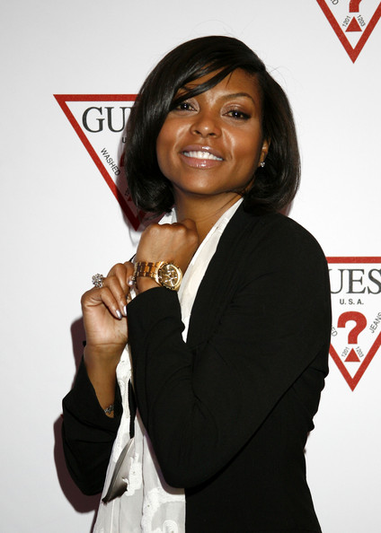 More Pics of Taraji P. Henson Patterned Scarf (1 of 9) - Taraji P. Henson Lookbook - StyleBistro