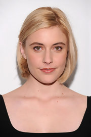 Greta Gerwig showed off her sleek medium length bob while attending the Gotham Independent Film Awards.