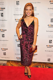 Toni jumped in on the velvet trend of the season in this artistic burnout number at the Gotham Independent Film Awards.