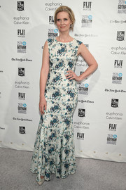 Cynthia Nixon went the girly route in a floral gown with a mermaid hem during the Gotham Independent Film Awards.