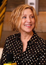 Edie Falco showed off a chic textured bob at the 2017 Sundance Film Festival.