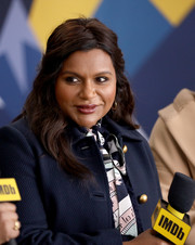 Mindy Kaling looked romantic with her half-up wavy hairstyle at the IMDb Studio during the 2019 Sundance Film Festival.