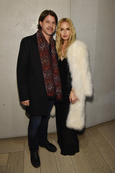 Rachel Zoe attended the NYFW: The Shows celebration looking glam in a white fur coat.