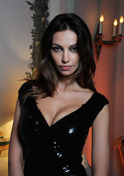 Madalina Ghenea posed seductively with her wavy locks down at the cocktail reception of IWC Filmmakers dinner.