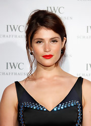 Gemma Arterton created a casual updo with long loose tendrils for the IWC Filmmakers Dinner.