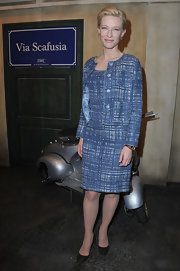 Cate Blanchet attended the ICW Portofino Launch in smart black pointy pumps.