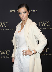 Adriana Lima graced the IWC Schaffhausen Da Vinci Collection launch wearing a leather-band quartz watch from the brand.