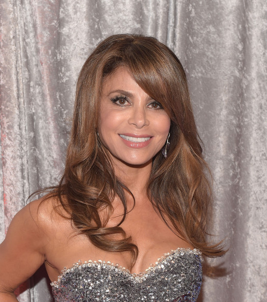 Paula Abdul styled her long hair with spiral waves for the IWMF Courage in Journalism Awards.