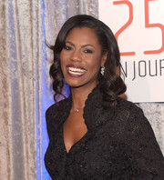 Omarosa Manigault looked lovely with her sculpted curls at the IWMF Courage in Journalism Awards.