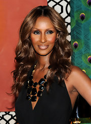Iman showed off her sultry smoky eye while attending her home collection launch.
