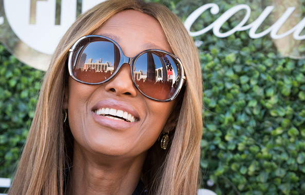 Iman Oversized Sunglasses [eyewear,sunglasses,hair,glasses,face,cool,facial expression,blond,smile,beauty,david h. koch theater,new york city,lincoln center,couture council fashion visionary awards,iman]
