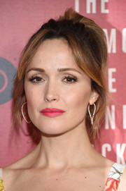 Rose Byrne styled her hair into a loose, high ponytail with parted bangs for the New York premiere of 'The Immortal Life of Henrietta Lacks.'