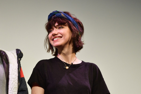 Imogen Poots Headband [the art of self-defense,blue,headgear,smile,fun,photography,fashion accessory,electric blue,performance,hat,imogen poots,paramount theatre,austin,texas,festivals,sxsw conference,premiere 2019 sxsw conference]