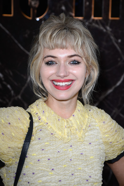 Imogen Poots Messy Updo