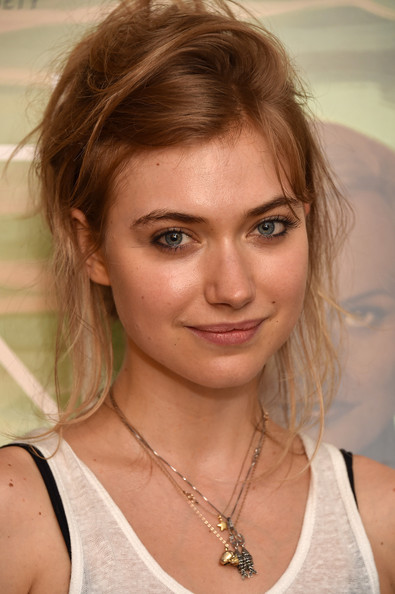 Imogen Poots Messy Updo [the one i love screening,hair,face,hairstyle,eyebrow,blond,chin,brown hair,beauty,layered hair,lip,imogen poots,nyc,crosby street theater,new york screening]