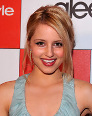 """Glee"" actress Dianna Agron showed off her side part updo while attending the InStyle Awards."