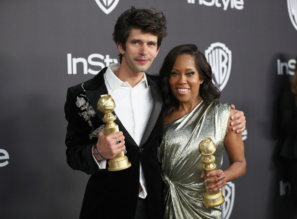 More Pics of Regina King One Shoulder Dress (1 of 11) - Dresses & Skirts Lookbook - StyleBistro [technology,event,electronic device,award,premiere,fashion accessory,smile,style,regina king,ben whishaw,california,beverly hills,instyle,golden globes,warner bros.,l,arrivals,party]
