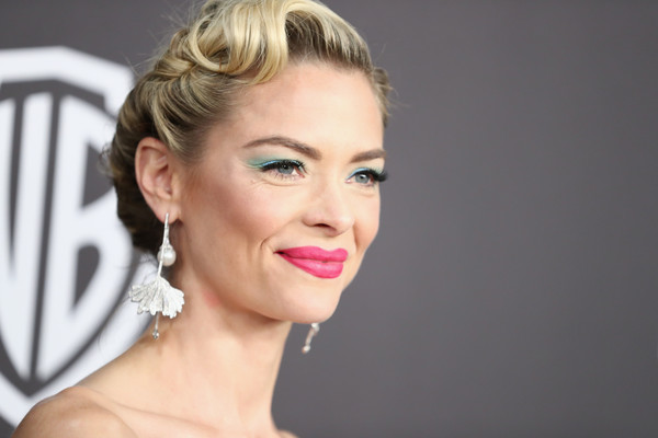 More Pics of Jaime King Retro Updo (1 of 7) - Updos Lookbook - StyleBistro [hair,face,lip,eyebrow,hairstyle,chin,skin,blond,beauty,nose,jaime king,beverly hills,california,the beverly hilton hotel,instyle,golden globes,warner bros.,arrivals,party]