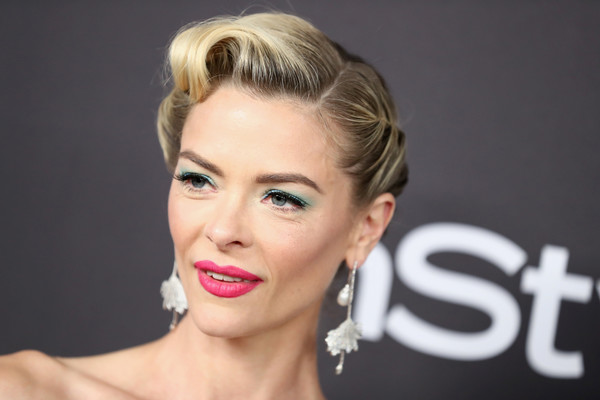 More Pics of Jaime King Retro Updo (3 of 7) - Updos Lookbook - StyleBistro [hair,face,lip,eyebrow,hairstyle,chin,blond,beauty,forehead,skin,jaime king,beverly hills,california,the beverly hilton hotel,instyle,golden globes,warner bros.,arrivals,party]